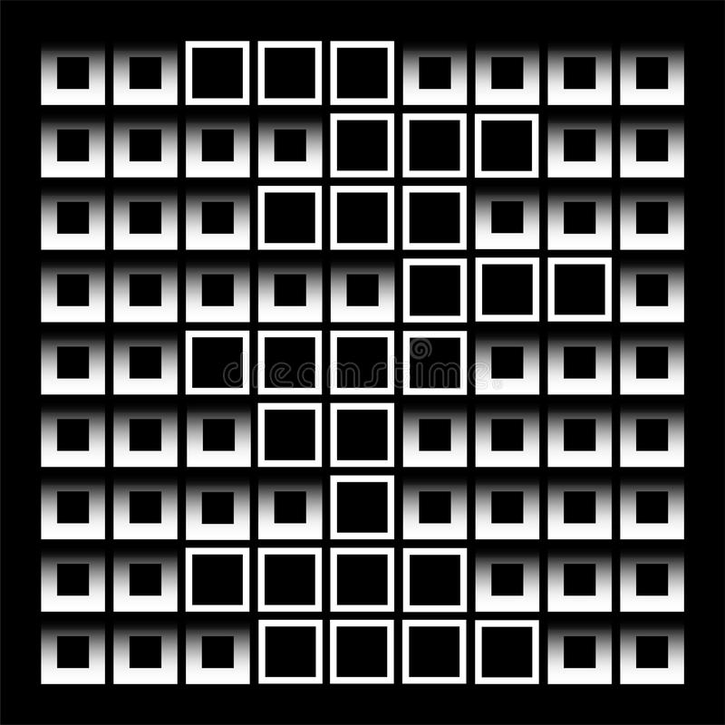 Composizione astratta con i quadrati illustrazione di stock