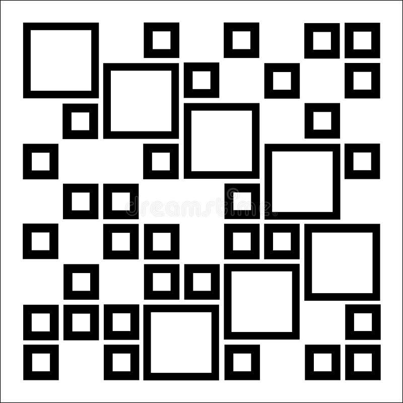 Composizione astratta con i quadrati illustrazione vettoriale