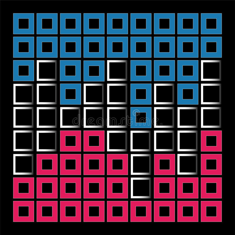 Composizione astratta con i quadrati royalty illustrazione gratis