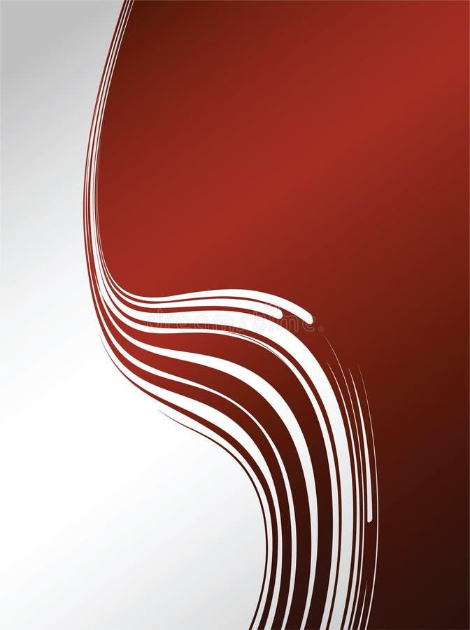 Composizione astratta con le onde nel colore rosso illustrazione di stock