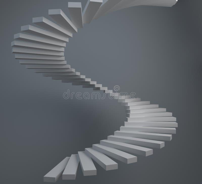Scala a chiocciola astratta illustrazione di stock for Scala a chiocciola 3d