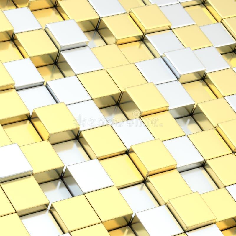 Composizione astratta dei blocchetti del cubo royalty illustrazione gratis