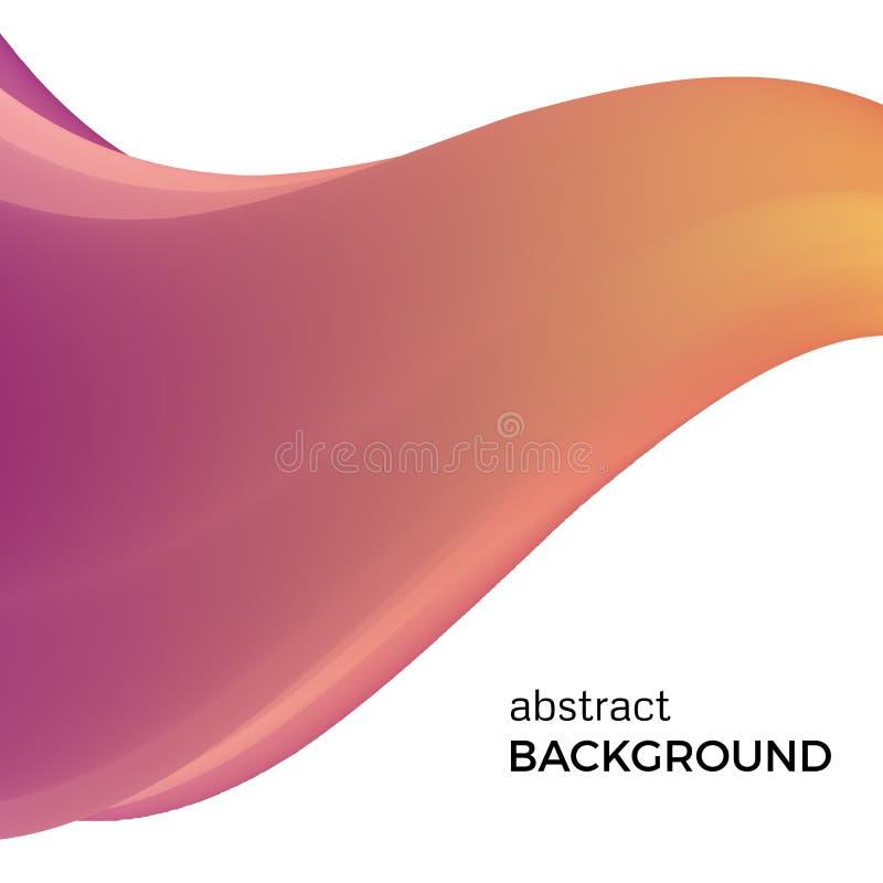 Composizione astratta di colore delle onde dell'acquerello illustrazione di stock