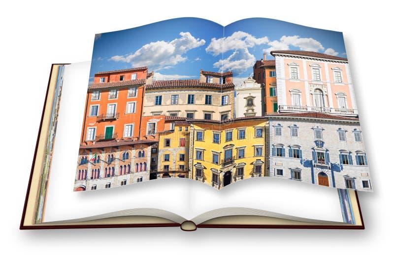 Composizione astratta di vecchie costruzioni italiane tipiche Italia - P royalty illustrazione gratis