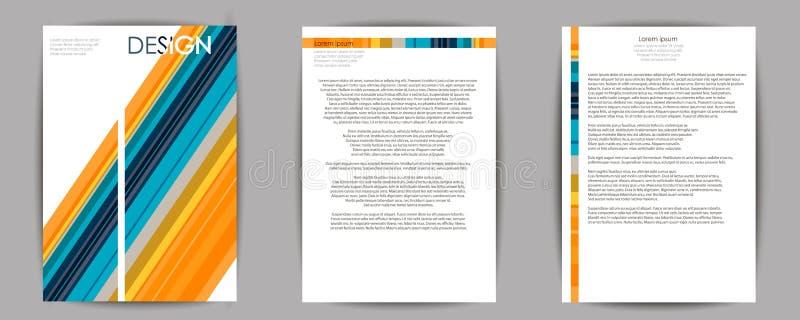 Composizione astratta, insieme di biglietto da visita, strato di titolo dell'opuscolo a4, EPS10, modello immagine stock libera da diritti