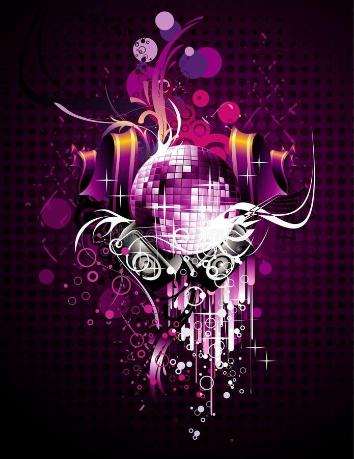 Composizione astratta in vettore della discoteca illustrazione vettoriale