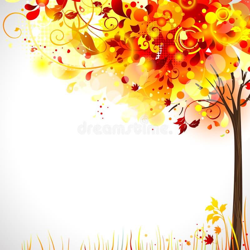 Composizione in autunno illustrazione di stock