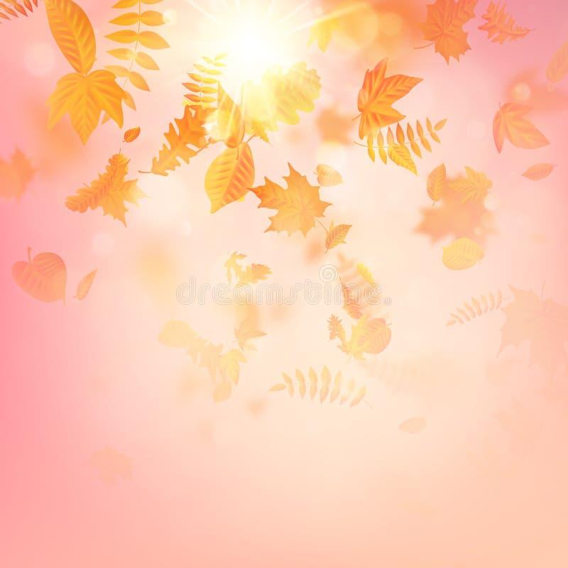 Composizione in autunno con le foglie di acero ENV 10 royalty illustrazione gratis
