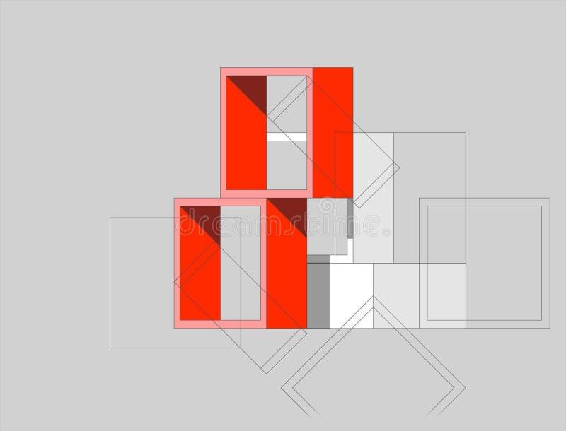 Composizione - caselle illustrazione vettoriale