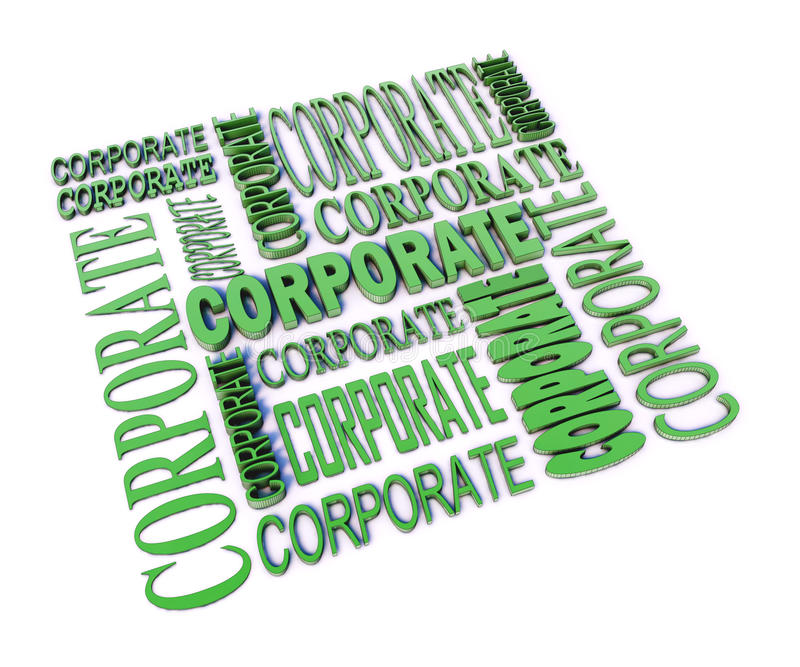 Composizione corporativa in parola royalty illustrazione gratis