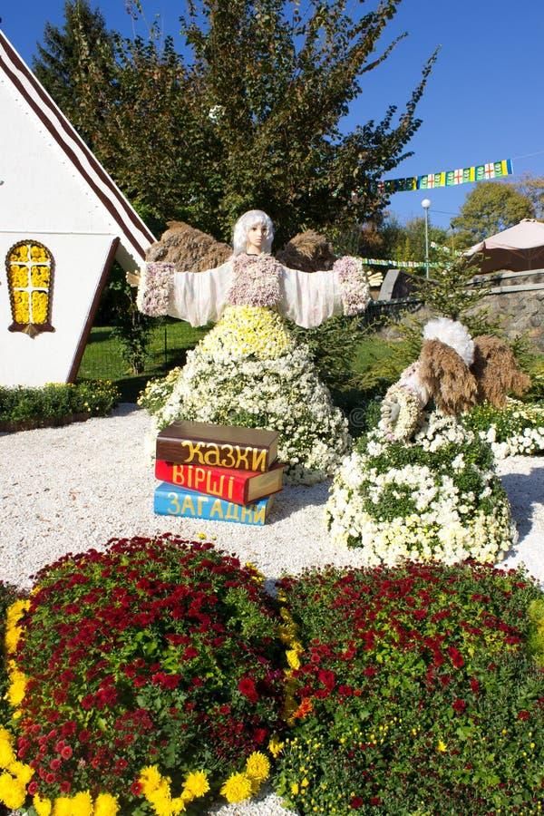 Composizione del crisantemo fotografia stock