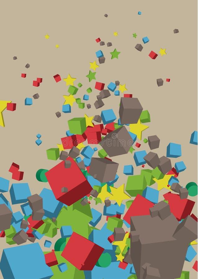 composizione di base in figure 3d illustrazione di stock