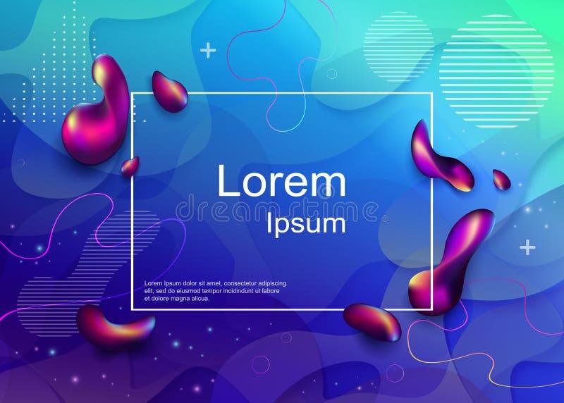 Composizione dinamica in forme Progettazione liquida del fondo di colore Flui royalty illustrazione gratis