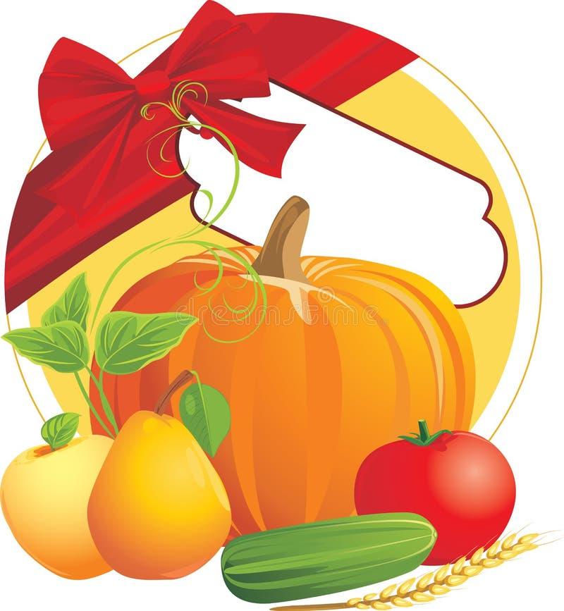 Composizione festiva al giorno di ringraziamento illustrazione vettoriale