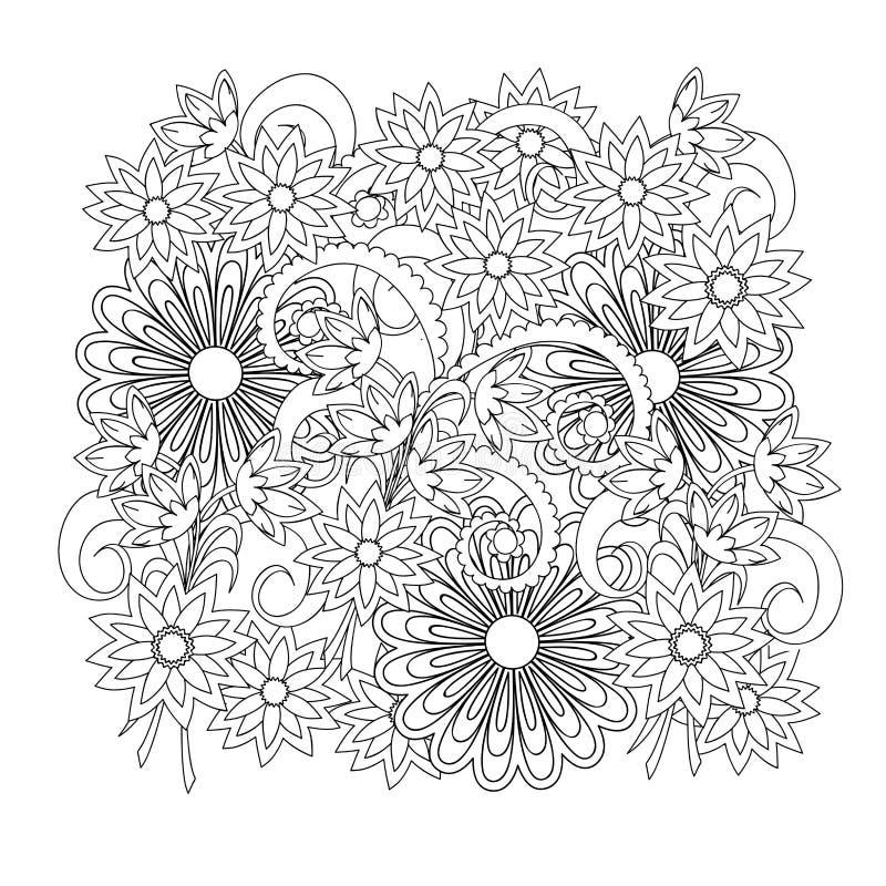 Composizione floreale in boho illustrazione di stock