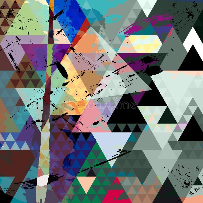 Composizione geometrica astratta illustrazione di stock