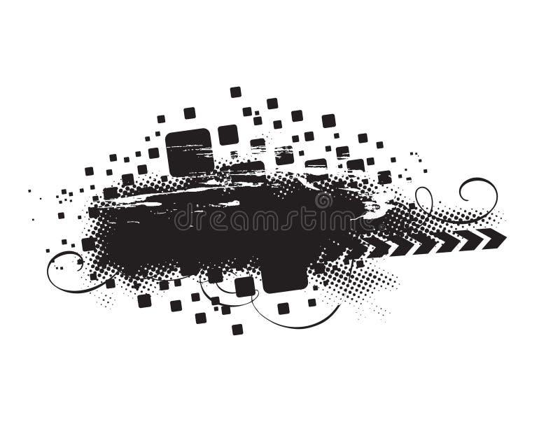 Composizione in Grunge royalty illustrazione gratis