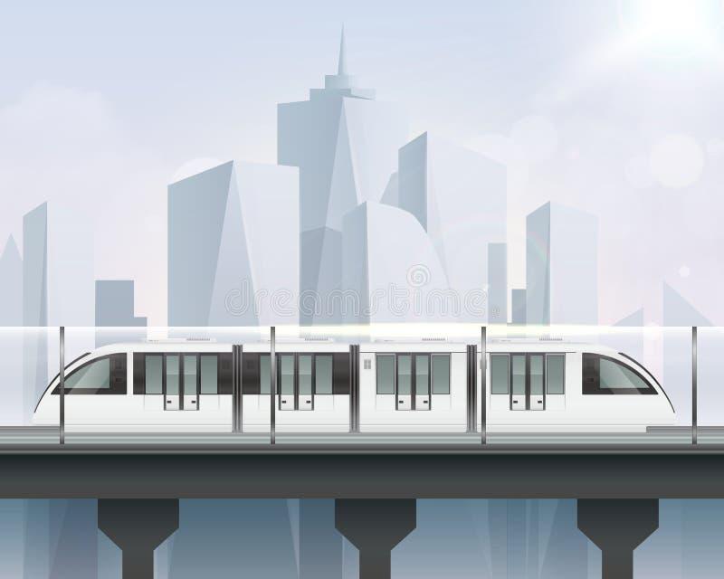 Composizione leggera realistica nella ferrovia royalty illustrazione gratis