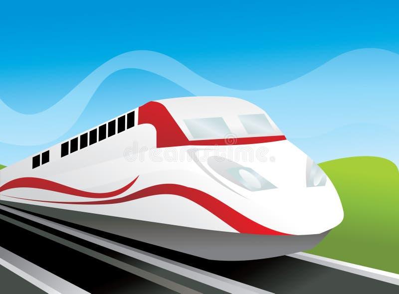 Composizione moderna in vettore del treno immagine stock libera da diritti