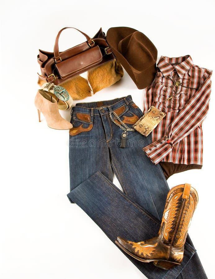 Composizione in modo del cowgirl fotografia stock libera da diritti