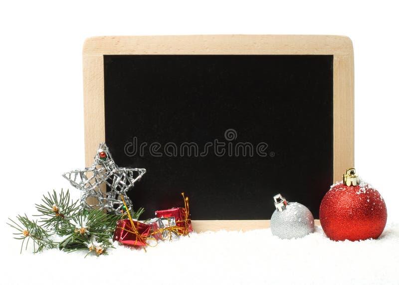 Composizione in Natale con le decorazioni immagini stock