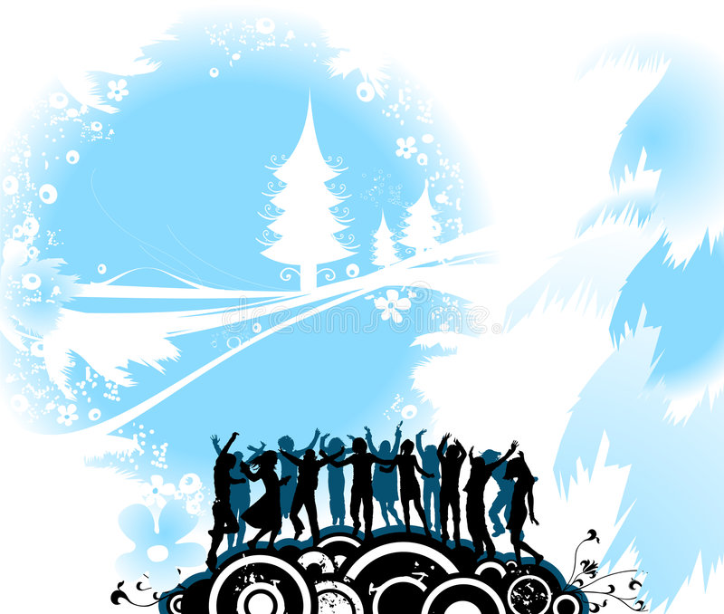 Download Composizione In Natale Con Sil Illustrazione Vettoriale - Illustrazione di people, maschio: 3891297