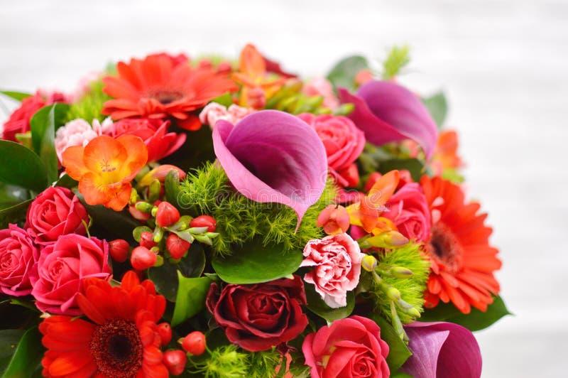 Composizione nel fiore per il salone dei fiori fotografia stock libera da diritti