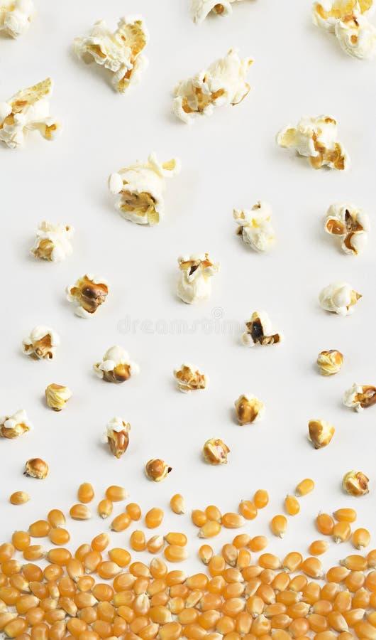 Composizione nel popcorn fotografia stock