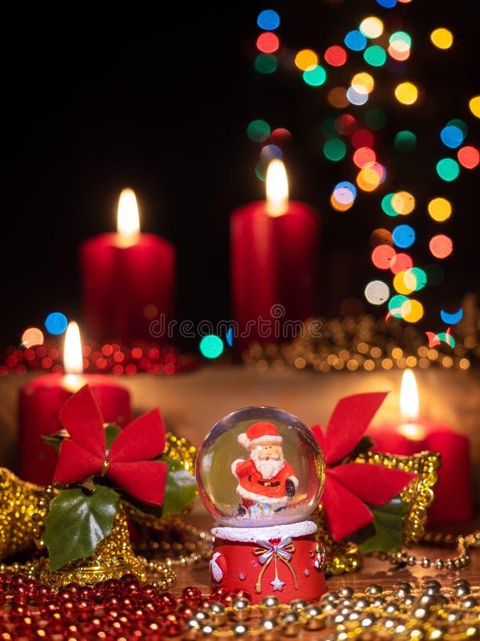 Composizione nella decorazione di Christmast fotografia stock libera da diritti