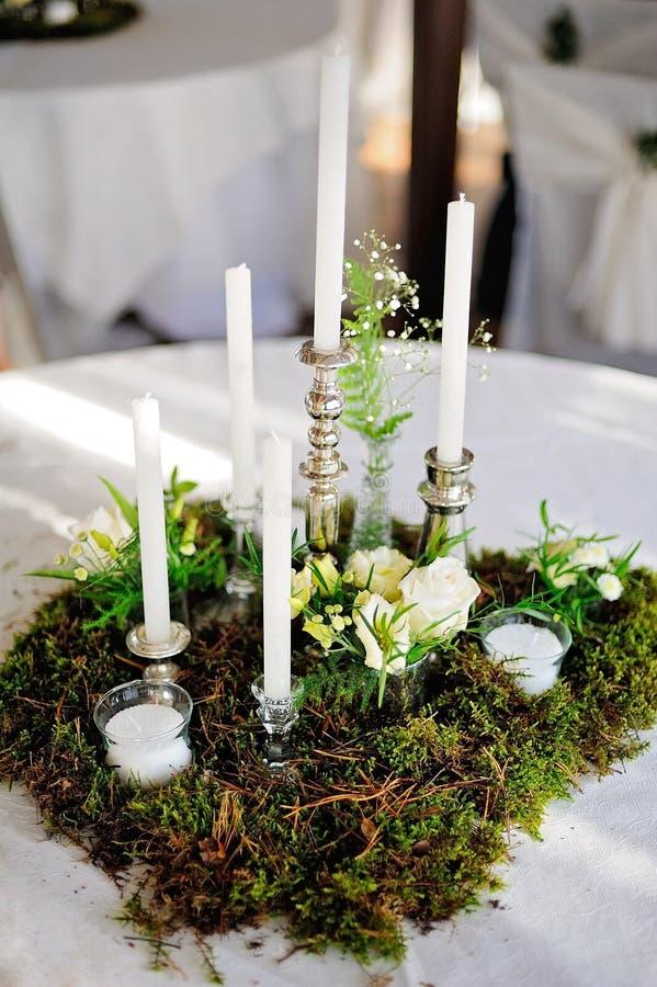 Composizione nella decorazione di nozze della decorazione di arte, stile rustico fotografia stock