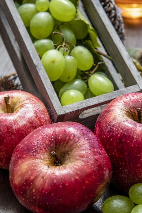 composizione nella frutta di autunno fotografie stock