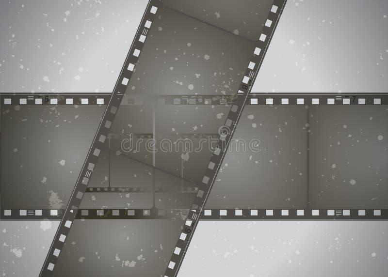 Composizione nella pagina di film di vettore di lerciume illustrazione vettoriale