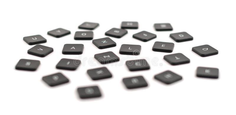 Composizione nera nel bottone della tastiera isolata fotografia stock libera da diritti