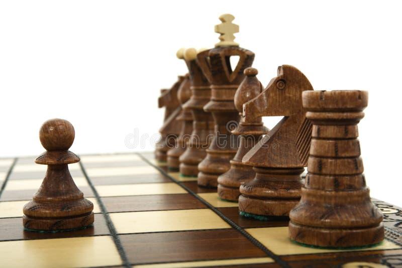 Composizione in scacchi fotografie stock