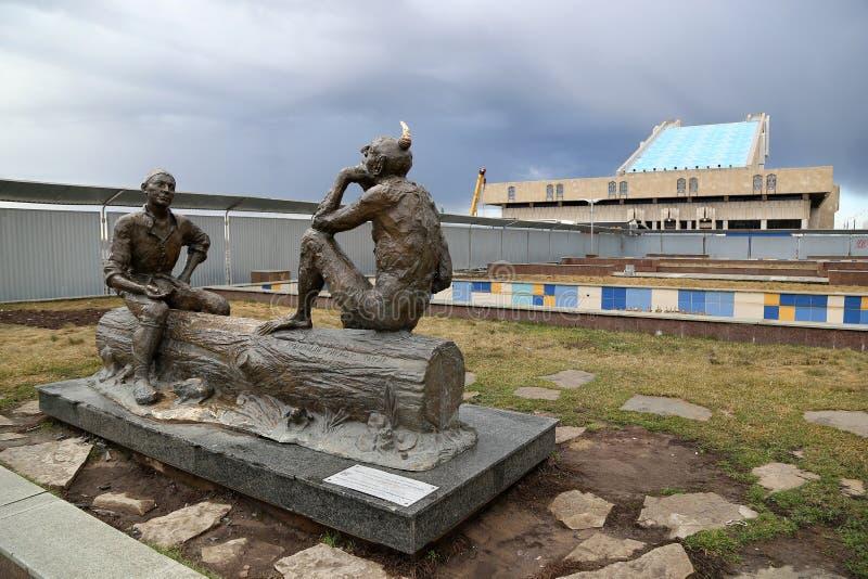 """Composizione scultorea """"misteri di Shurale """", autore A M. Minulin immagini stock"""