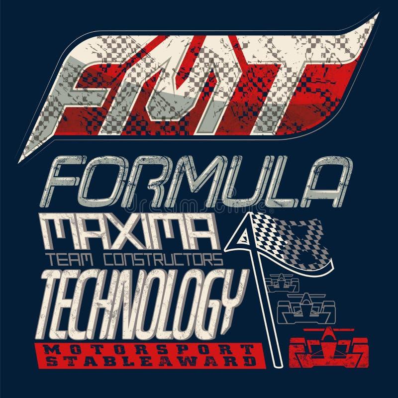 Composizione tipografica per il Formula 1 Lerciume, modo alla moda royalty illustrazione gratis