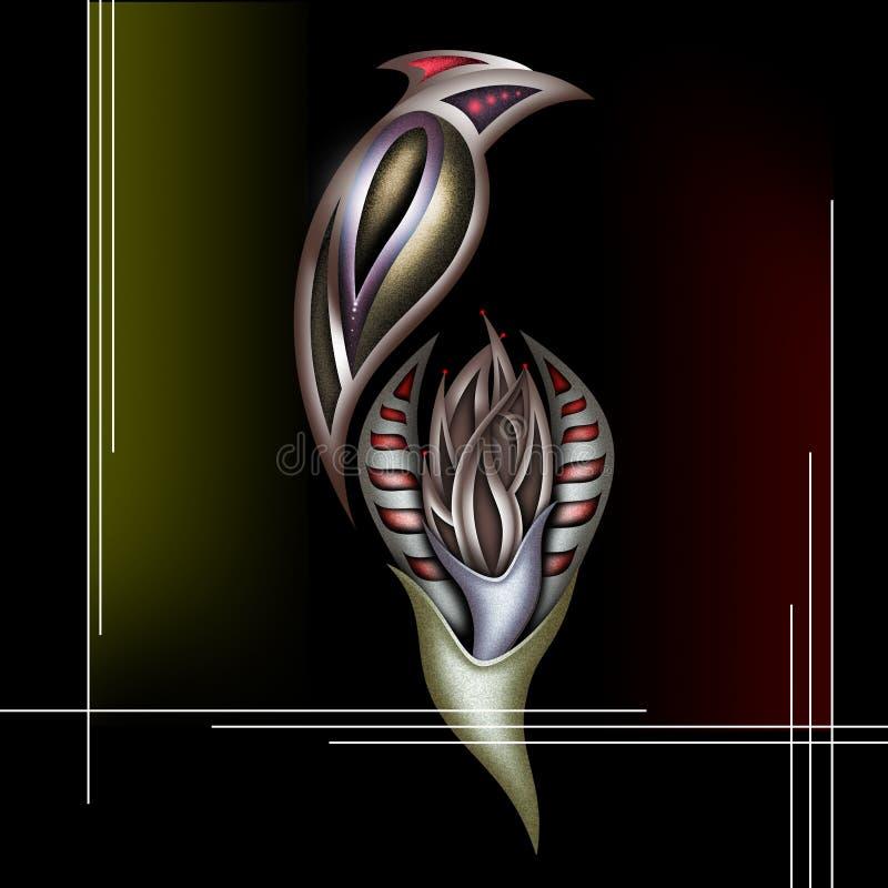 Composizione - uccello su un fiore immagini stock libere da diritti