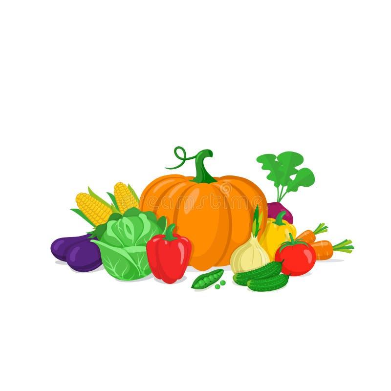 Composizione variopinta nelle verdure royalty illustrazione gratis