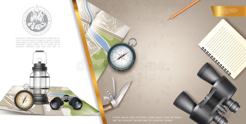Composizione variopinta in ricreazione all'aperto illustrazione vettoriale