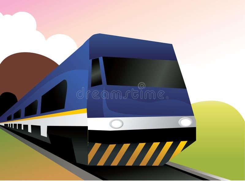 Composizione in vettore del treno fotografie stock libere da diritti