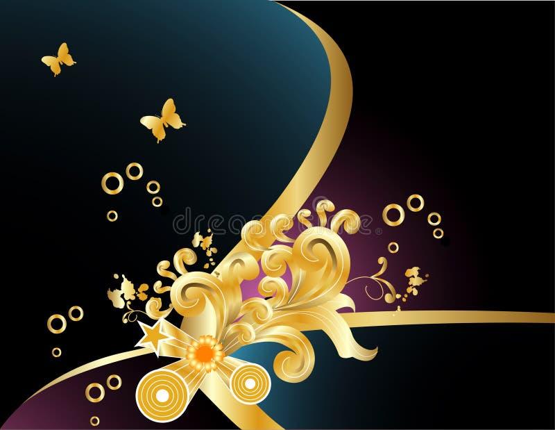 Composizione in vettore dell'oro illustrazione vettoriale