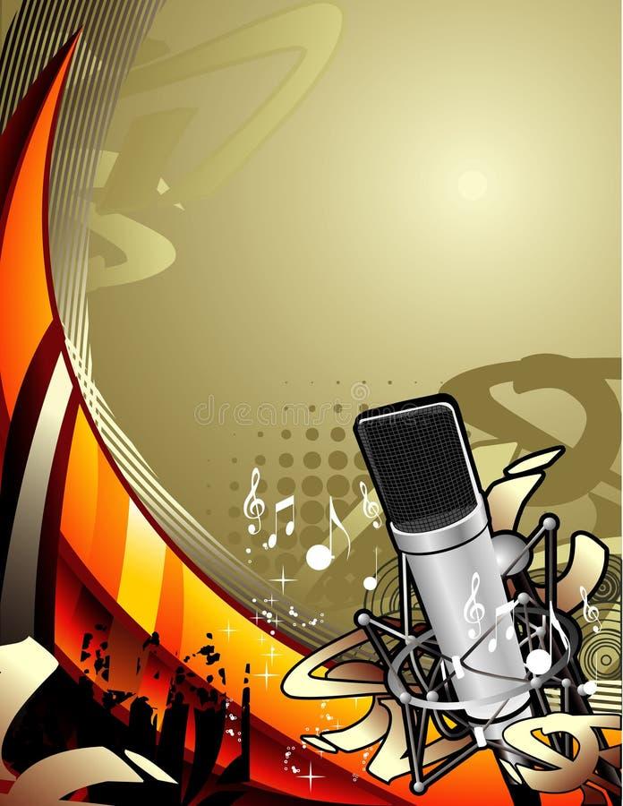 Composizione in vettore di musica illustrazione di stock