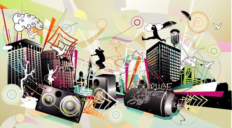 Composizione in vettore di musica illustrazione vettoriale