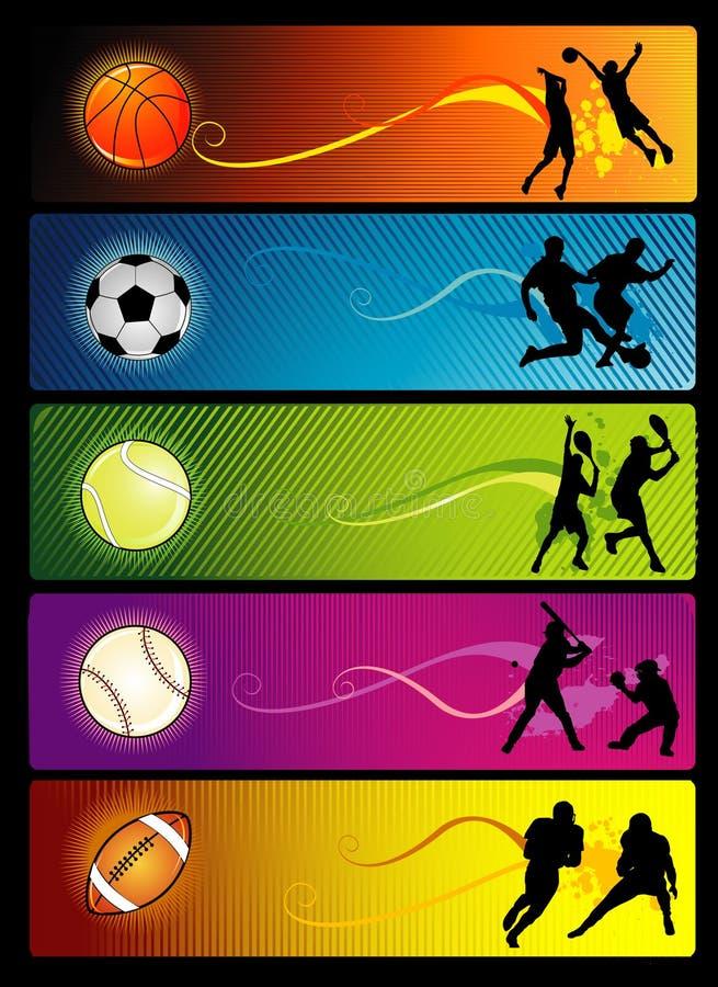 Composizione in vettore di sport illustrazione di stock