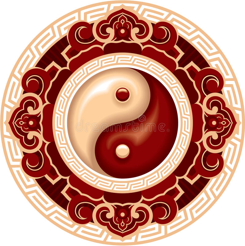 Composizione in Yin Yang illustrazione di stock