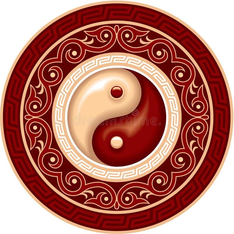 Composizione in Yin Yang royalty illustrazione gratis