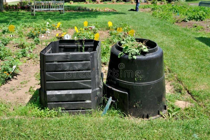 Compost bins stock photo