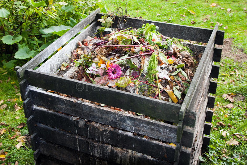 Compostbak stock foto's