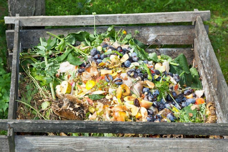 Compostbak royalty-vrije stock afbeelding
