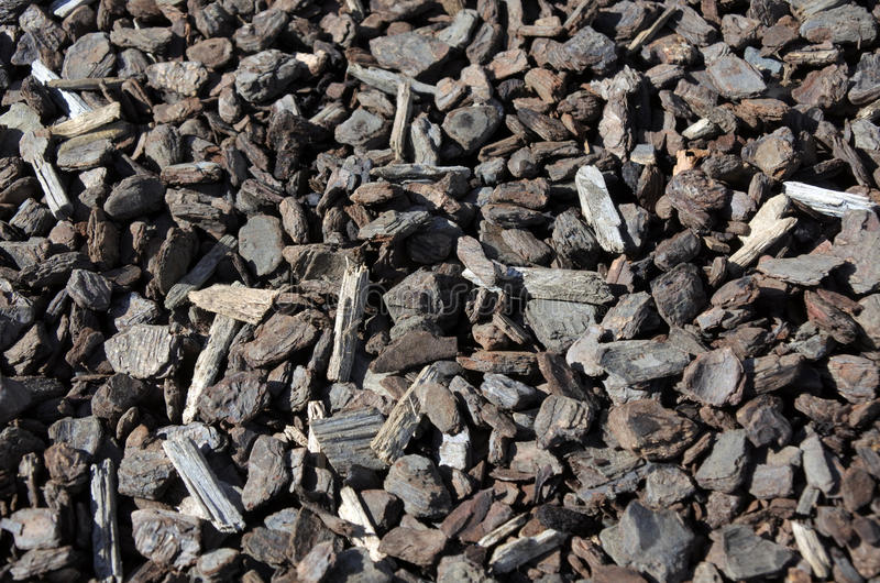 Composted bark garden mulch royalty free stock photo